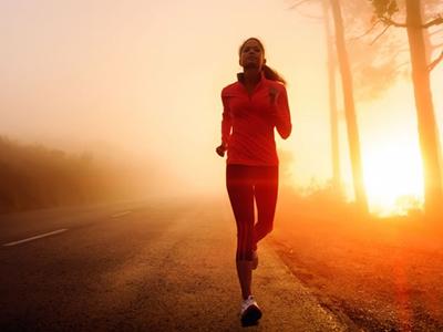 时尚慢跑运动